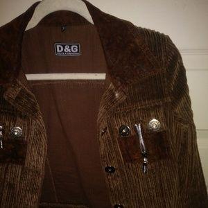 EuC D & G women's vintage corduroy rocker jacket